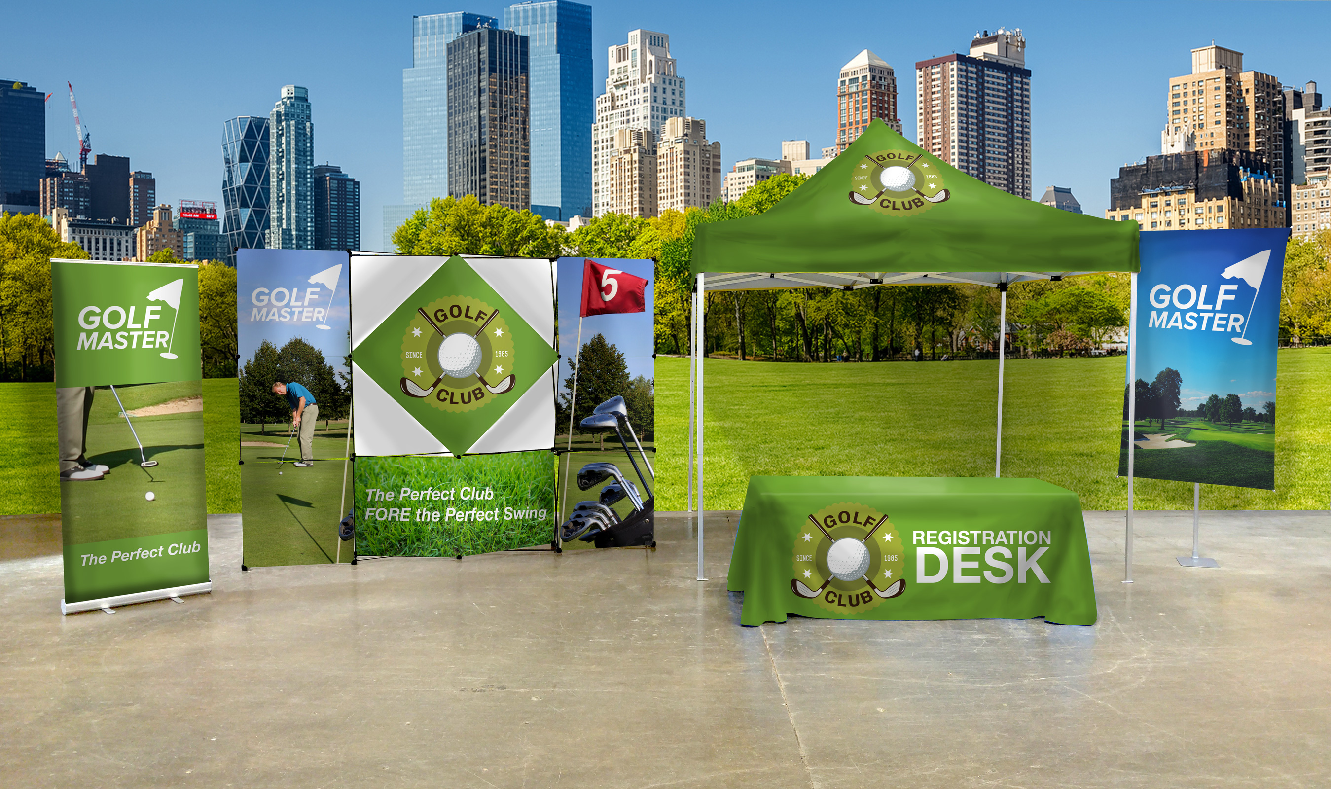 Custom Promotional Flags, Tradeshow Retractable Banners and tents
