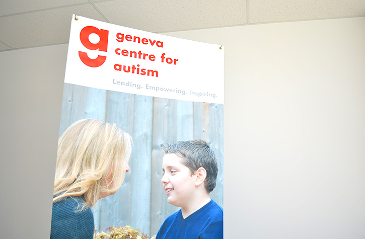 Geneva Centre For Autism Promotion Sign Printed by Flagsource Canada
