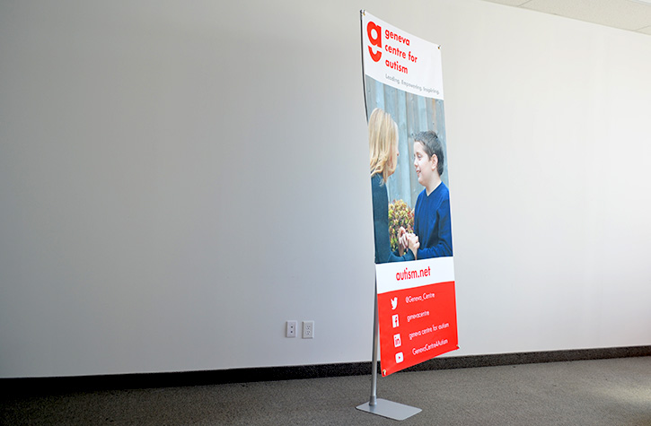 Geneva Centre for Autism Custom Printed Sign by Flagsource Canada