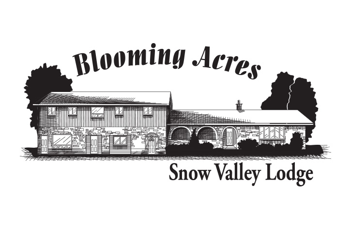 Blooming Acres Snow Valley Logo